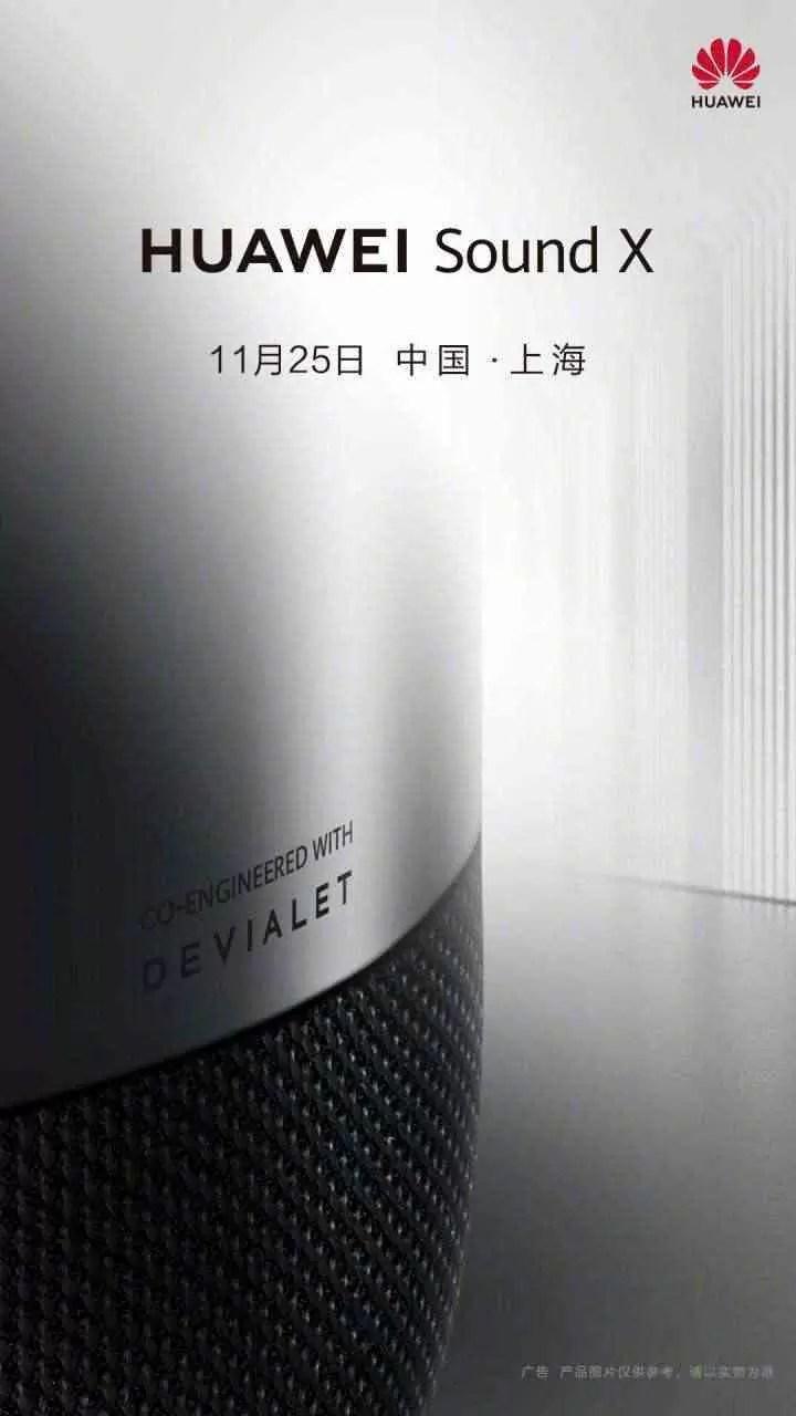 Huawei Sound X foi co-projetado com a Devialet, lançamento previsto para 25 de novembro 1