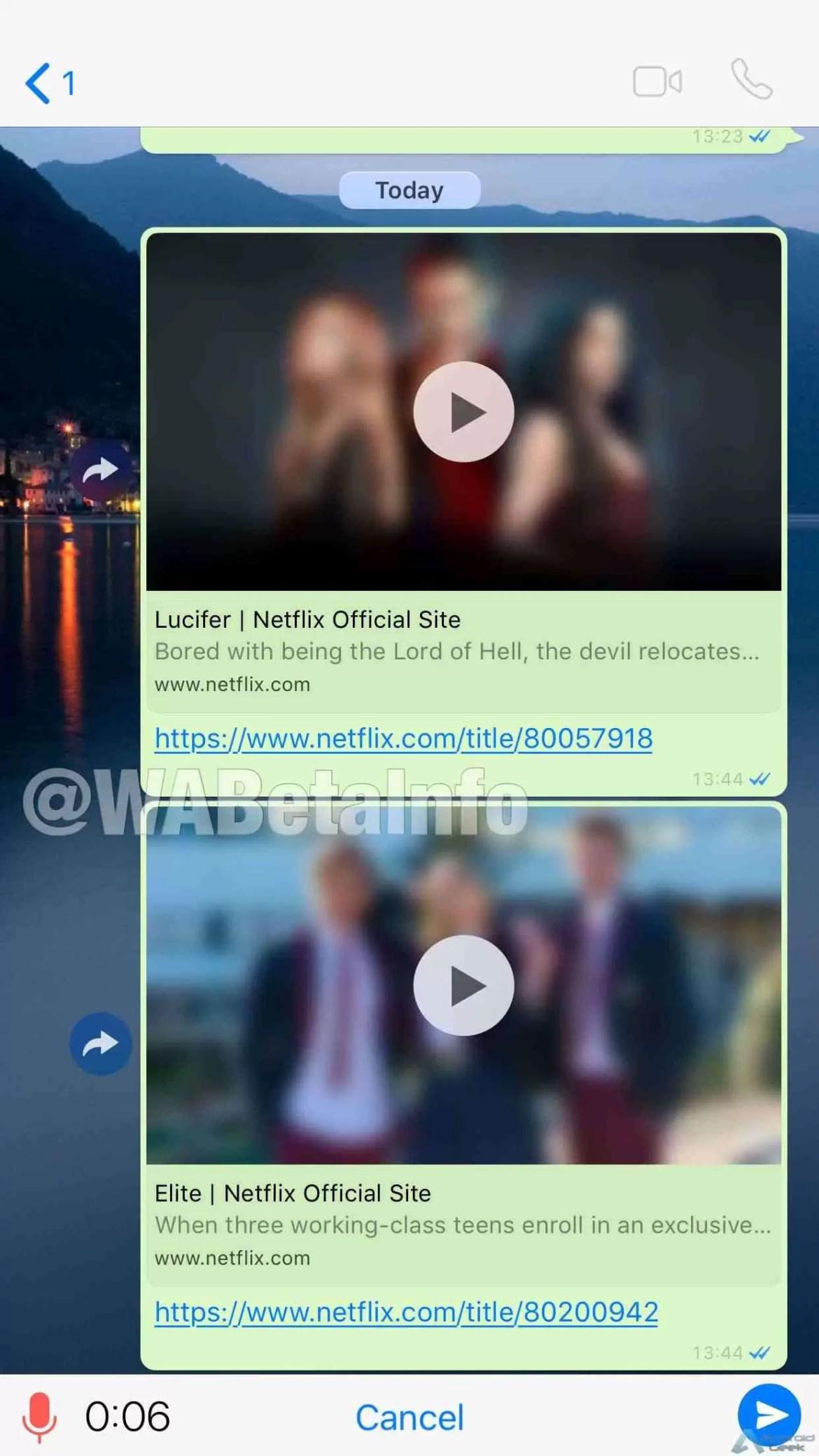 O WhatsApp já permite ver vídeos da Netflix diretamente na aplicação 1