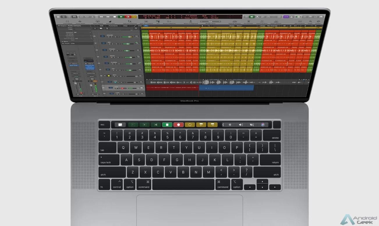 MacBook Pro de 16 '' em destaque