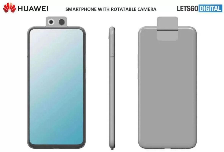 Já viram esta patente de smartphone com câmara rotativa da Huawei? Pode ser mesmo P Smart Z 2020 1