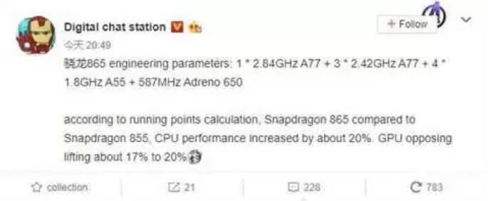 Snapdragon 865 será 20% mais poderoso que o Snapdragon 855 1