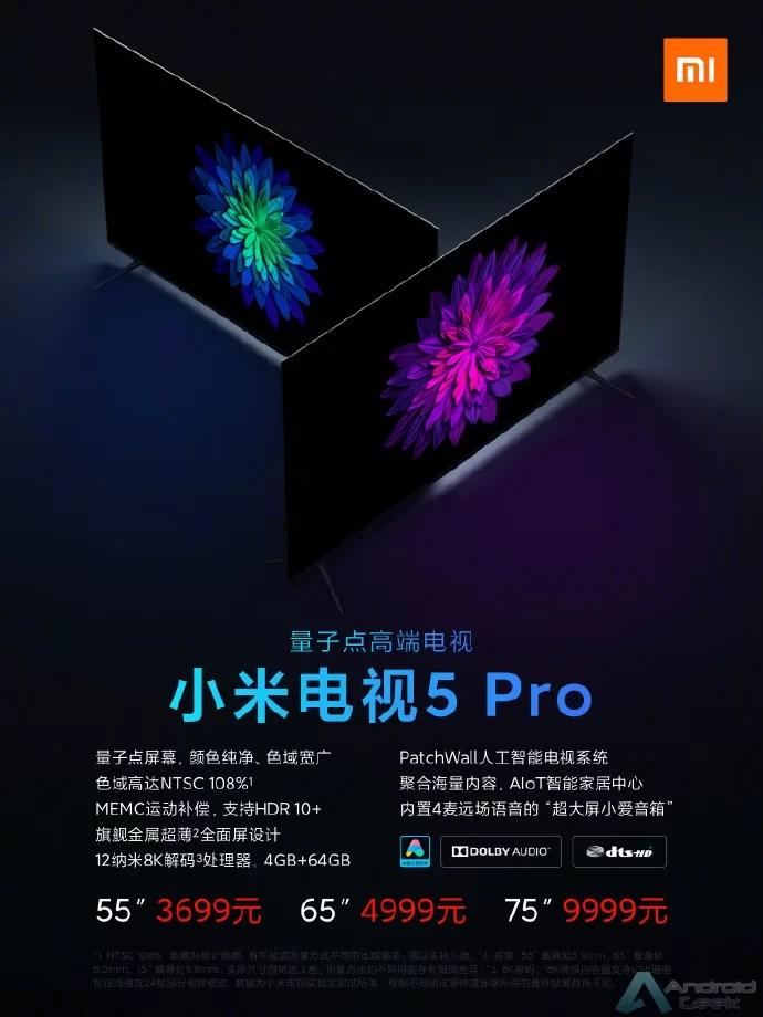 Xiaomi Mi TV 5,e Mi TV 5 Pro lançadas oficialmente na China 2