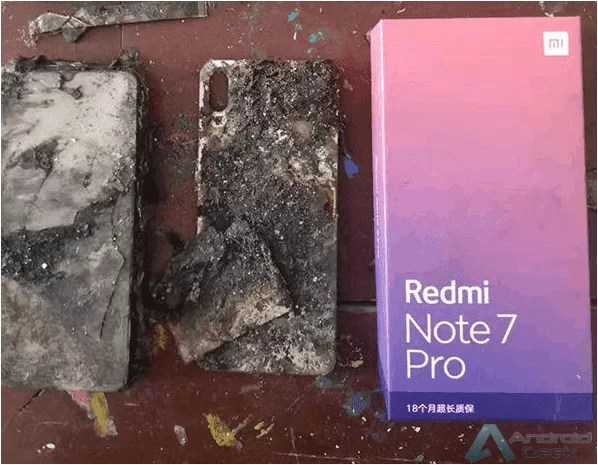 Xiaomi Redmi Note 7 Pro incendeia-se 1