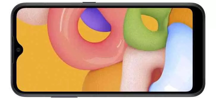 Samsung Galaxy A01 discretamente apresentado com tela HD de 5,7 '', muita memória