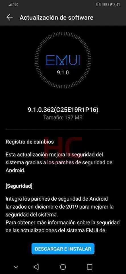 Huawei Mate 20 e Mate 20 Pro na EMUI 9.1 estão receber atualização de segurança de dezembro 2