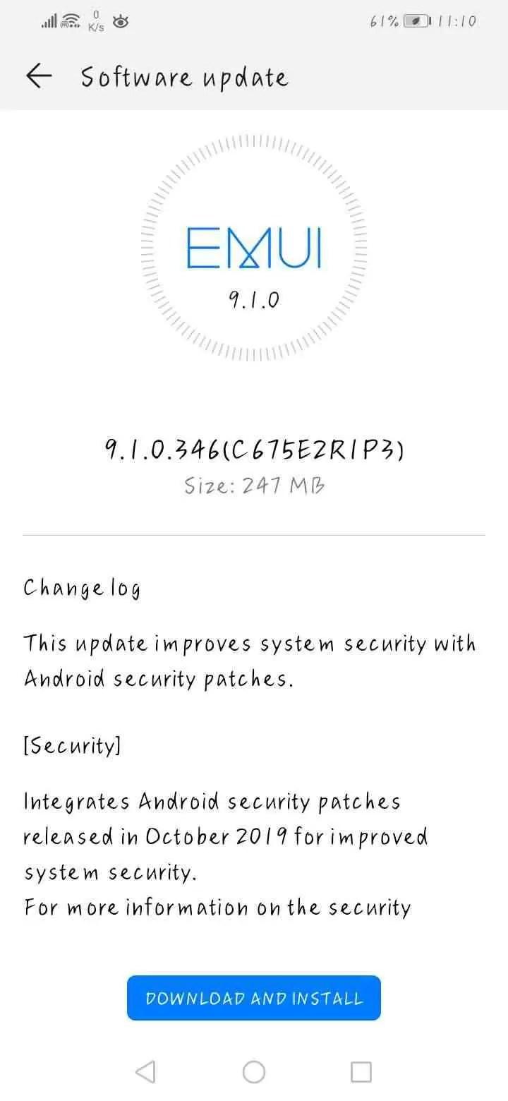 Huawei Nova 3 e Nova 3i começam a receber patch de segurança de outubro, EMUI 10 não confirmada 2