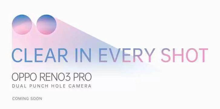 Oppo Reno3 Pro com duas câmaras selfie é presente online