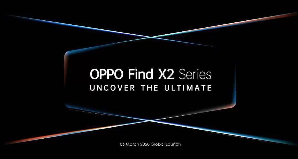 Data de lançamento do OPPO Find X2 Series