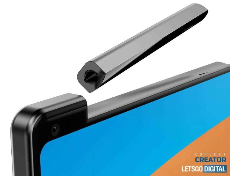 smartphone com caneta stylus