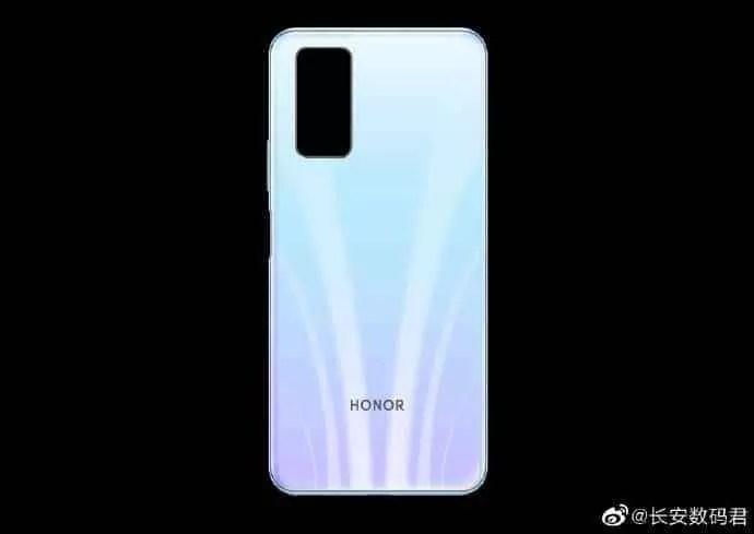 Honor 30S foi revelada imagem renderizada traseira