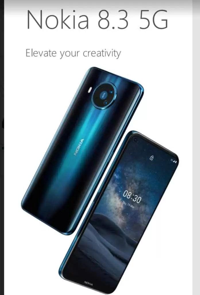 Novo Nokia 8.3 5G revelado 1