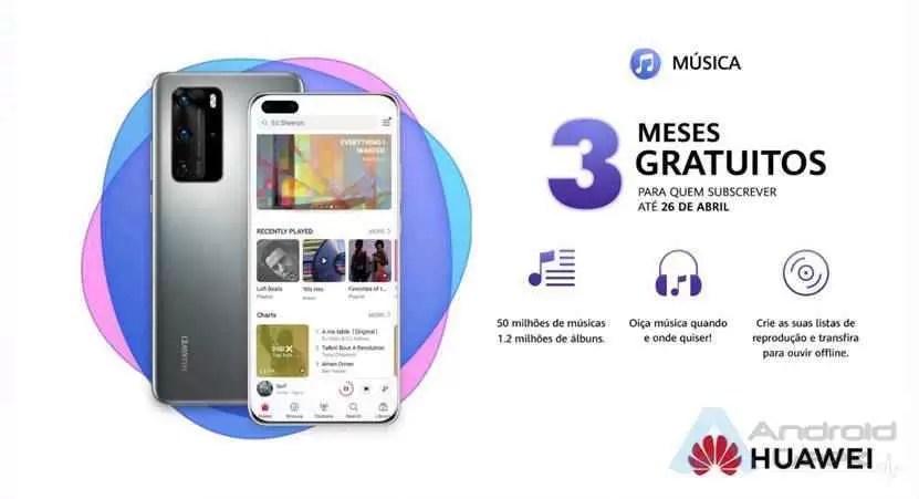 Nova aplicação Música da Huawei com 3 meses gratuitos 1