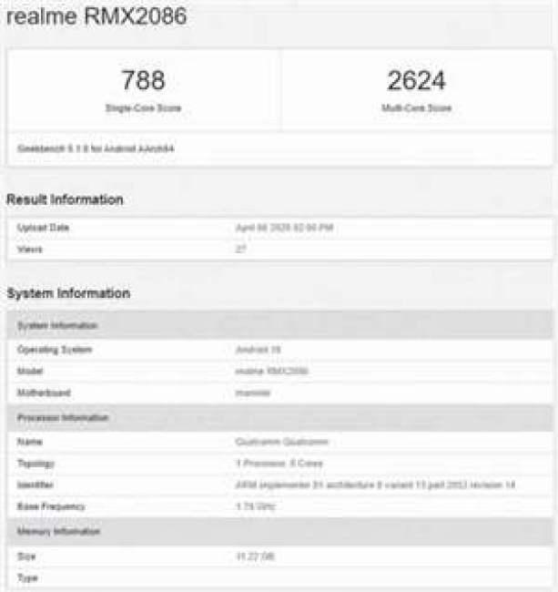 Realme X3 SuperZoom passa pelo Geekbench que revelam especificações, tem certificação múltipla