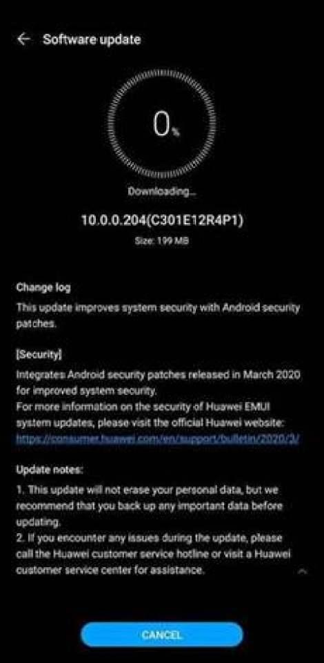Huawei Mate 30 Pro recebe atualização de segurança EMUI de março 1