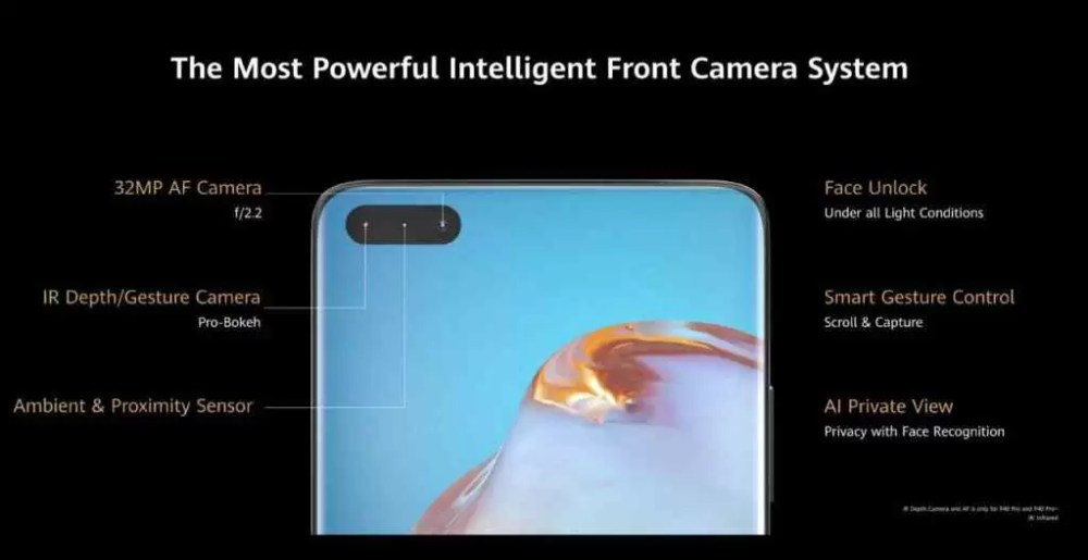 سلسلة Huawei P40: نظام كاميرا أمامي قوي 1