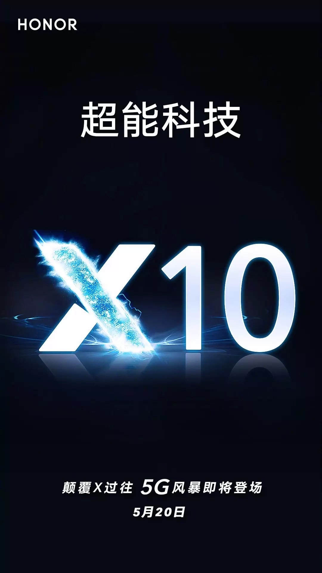 Data de lançamento do Honor X10