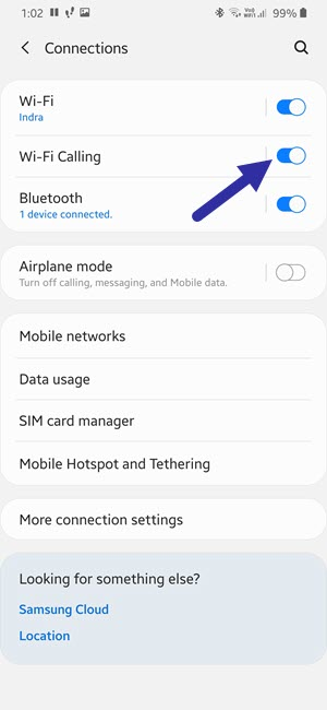 turn on wi fi calling on samsung 291120
