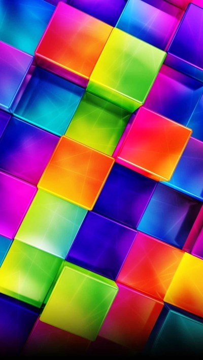 3D Geometric Colorful Android wallpaper - Android HD ...