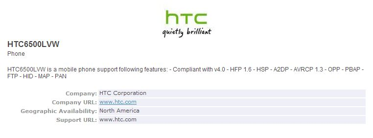 HTC Bluetooth SIG