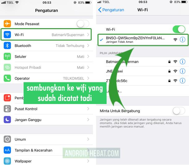 cara menggunakan share it di iPhone