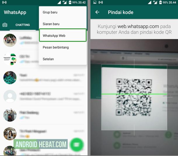 melihat kode barcode di whatsapp
