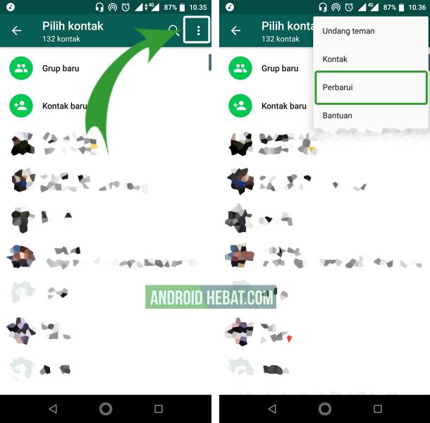 solusi kontak wa tidak terbaca di android dan iPhone