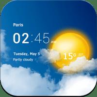Download Transparent Clock & Weather Clock app v1.99.15 android