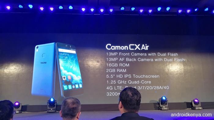 Tecno Camon CX Air specifications