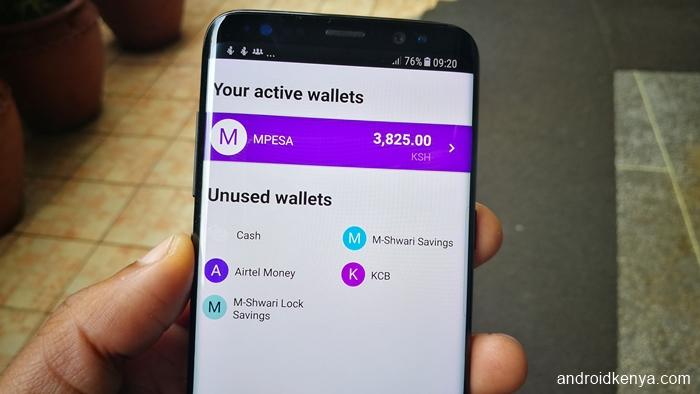 Overview finance app - wallets
