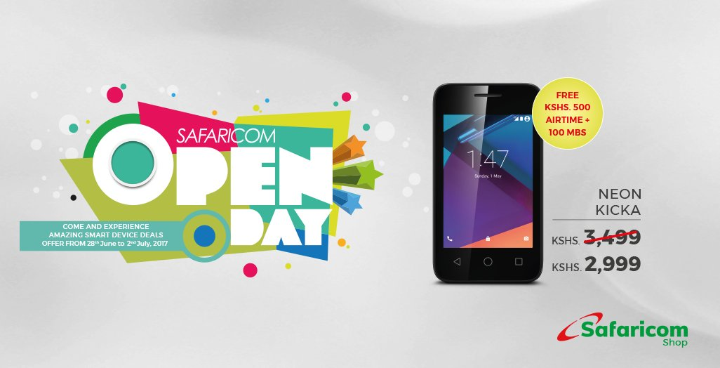 Safaricom Neon Kicka Safaricom Open Day July 2017
