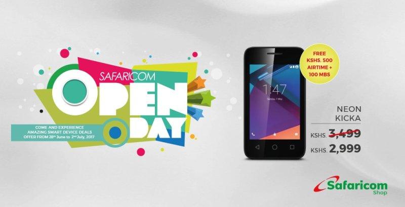 Safaricom Neon Kicka Safaricom Open Day July 2017
