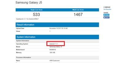 Samsung Galaxy J5 Nougat