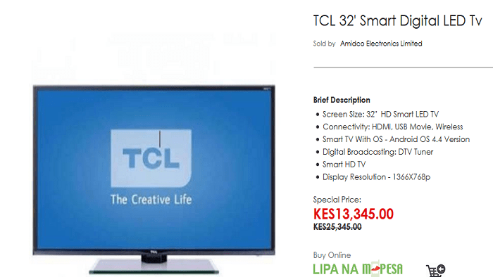 TCL 32' Smart Digital LED Tv