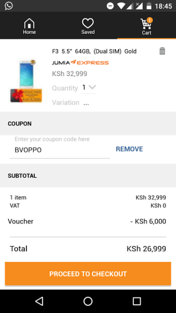 Deal: Get a Ksh 6K discount on Oppo F3 (4GB/64GB) with this