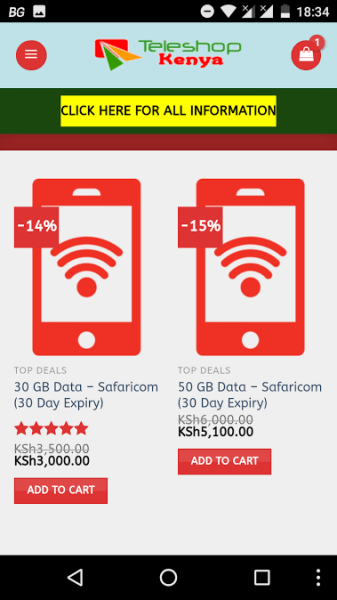 Safaricom Discount Shop