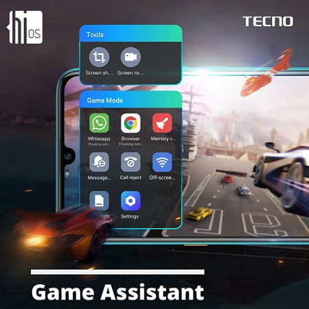 HiOS 5.5 Game Mode and Game Assistant