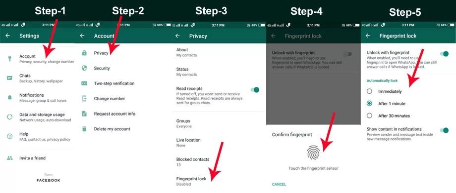 WhatsApp Fingerprint Lock How to Setup