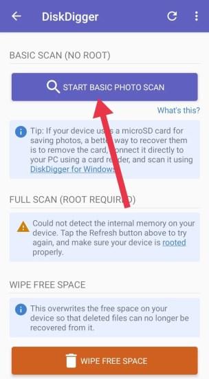 Start Basic Photo Scan