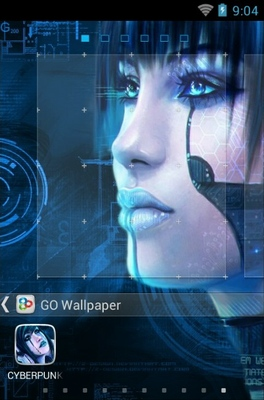 Vintage Cute Girl Wallpaper Cyberpunk Android Theme For Go Launcher Androidlooks Com