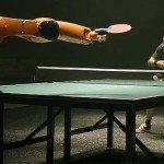 Tischtennis-Duell zwischen Mensch und Maschine verkommt zum Werbefilmchen