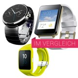 Motorola Moto 360, Sony Smartwatch 3 und LG G Watch im Langzeittest