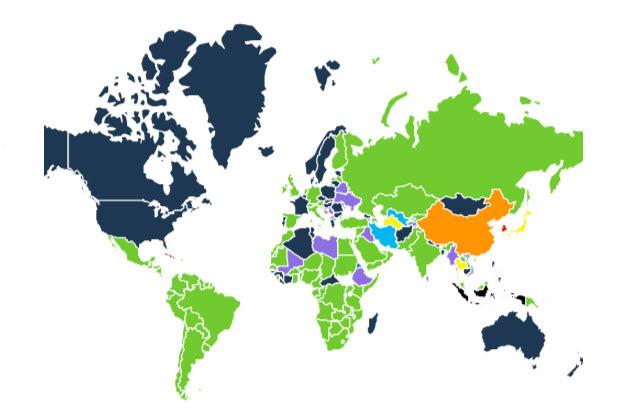 Die Landkarte der Messenger (Quelle: SimilarWeb)