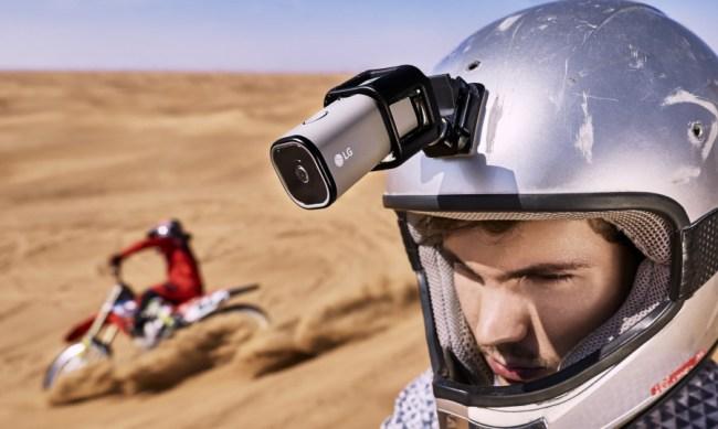 """Die neue """"LG Action Cam LTE"""" kann mittels eines eigenen LTE-Moduls Videos über das Internet streamen. (Foto: LG Electronics)"""