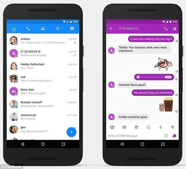 Facebook Messenger mit SMS