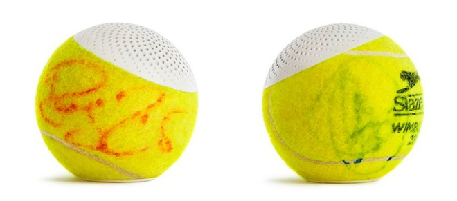was macht ein tennisball in seinem zweiten leben er wird bluetooth lautsprecher androidmag. Black Bedroom Furniture Sets. Home Design Ideas