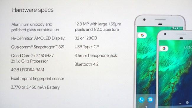 Google Pixel Daten