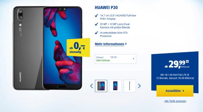 Bei 1&1 gibt es derzeit eine Datenflat für 29,99 EUR ohne Geräteaufschlag.