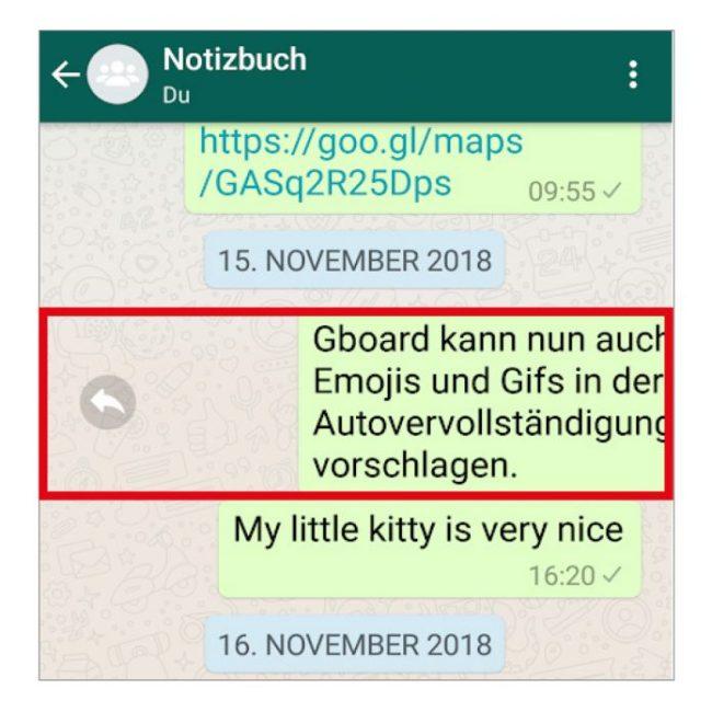 WhatsApp-Tipp: Schnell auf eine Nachricht antworten