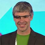 Larry Page mit Google Glasses gesichtet