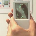 Android Smartphone mit transparentem doppelseitigem Touchscreen